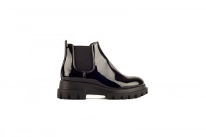 AGL zwarte dames chelsea boots met chunky zool 171.10.187