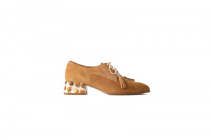 Pertini cognac dames veterschoen 155.39.016