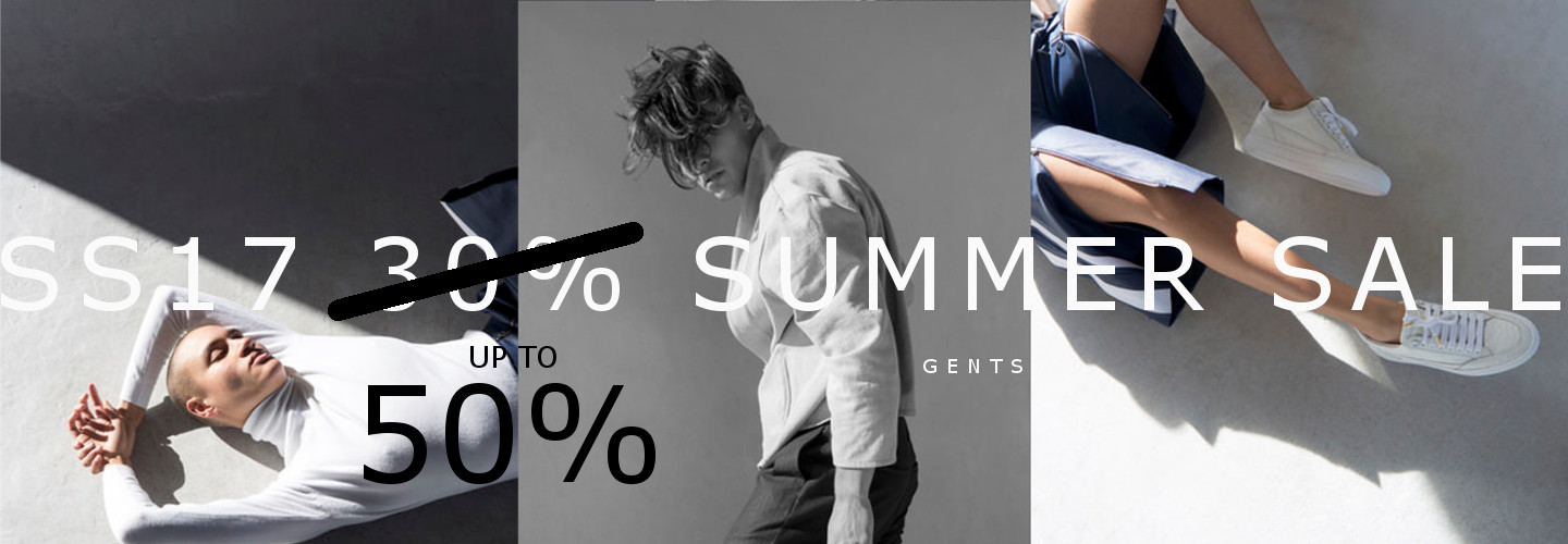SS17 SALE 50% gents collection